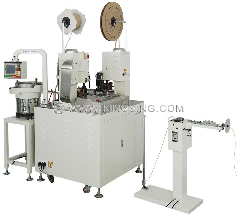 Automatic Wire Crimping and Sleeve Inserting Machine