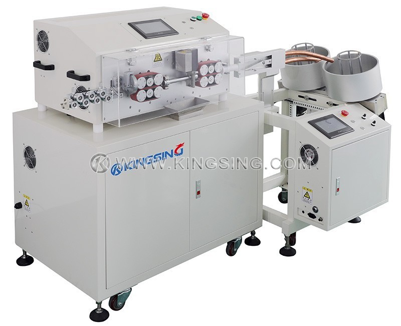 Electric Wire Stripping Machine With Coiling System