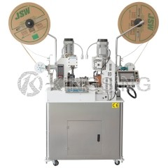 Automatic 2-sided Fine Wire Stripping and Crimping Machine