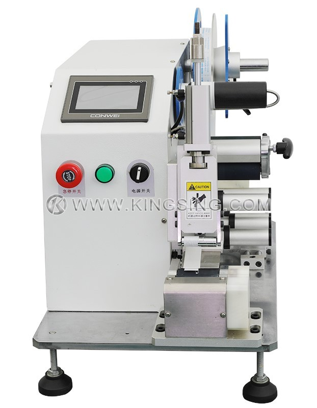 Automatic Wire Circular Labeling Machine on capacitor labeling, power supply labeling, safety harness labeling, cable labeling, control panel labeling, hose labeling,