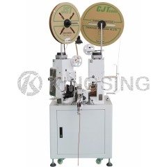 Two-sided Parallel Twin Cable Stripping and Crimping Machine